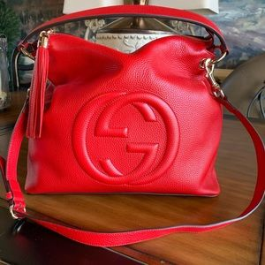 Gucci authentic large red Soho bag
